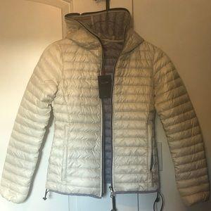 Duvetiva Ivory light down zip hooded Jacket IT 40